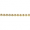 Rhinestone Chain SS6.5 Gold Crystal